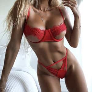 סט סקסי אדום